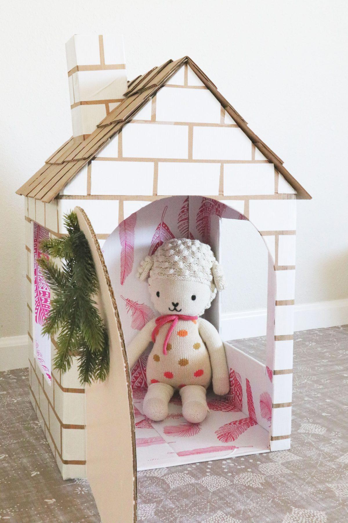 cardboard box house Extra Petite Cardboard Home