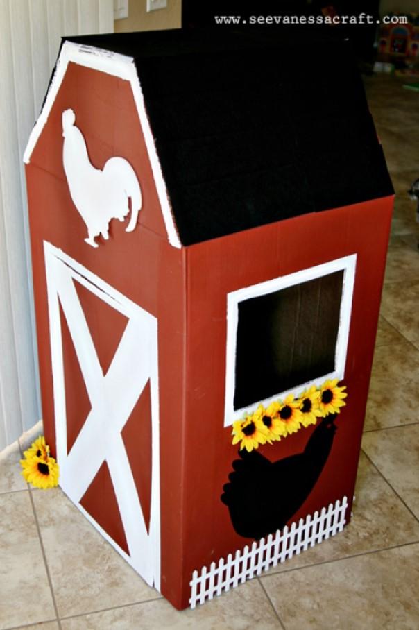 cardboard box house Funky Barnhouse