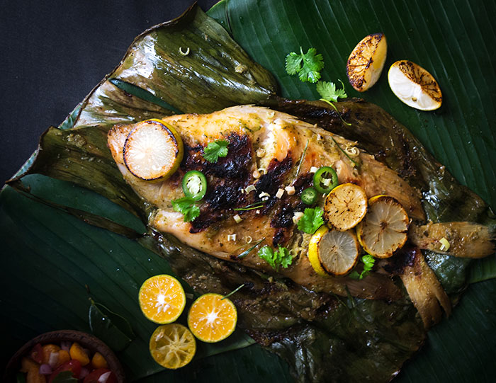 grilled tilapia Grilled Tilapia in Banana Leaves