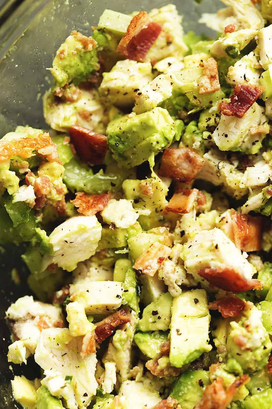 keto chicken salad Keto Chicken Salad with Bacon and Avocado