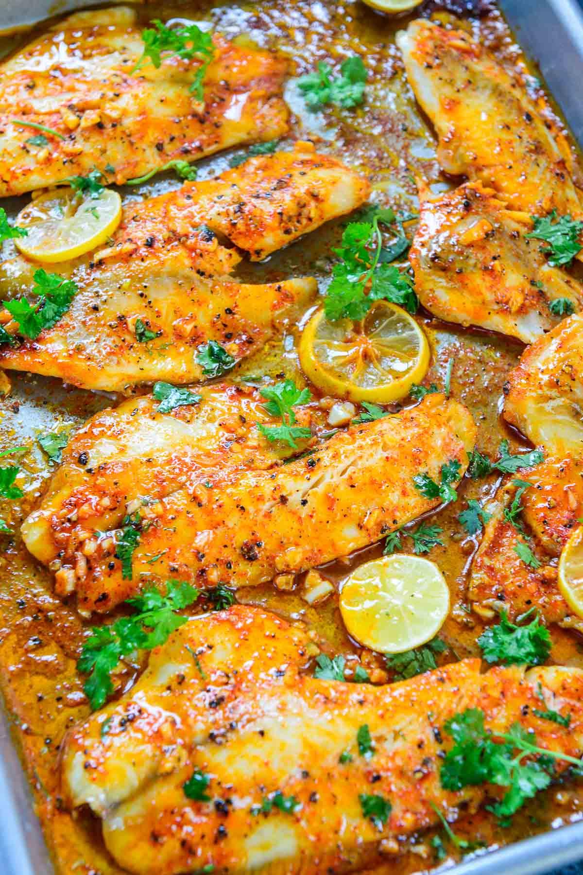 grilled tilapia Lemon Garlic Tilapia