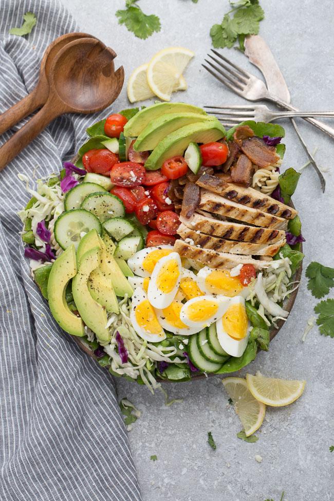 keto chicken salad Low Carb Chicken Cobb Salad