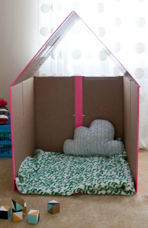 cardboard box house Quick And Easy Cardboard Home