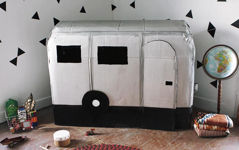 cardboard box house Savvy Cardboard Camper