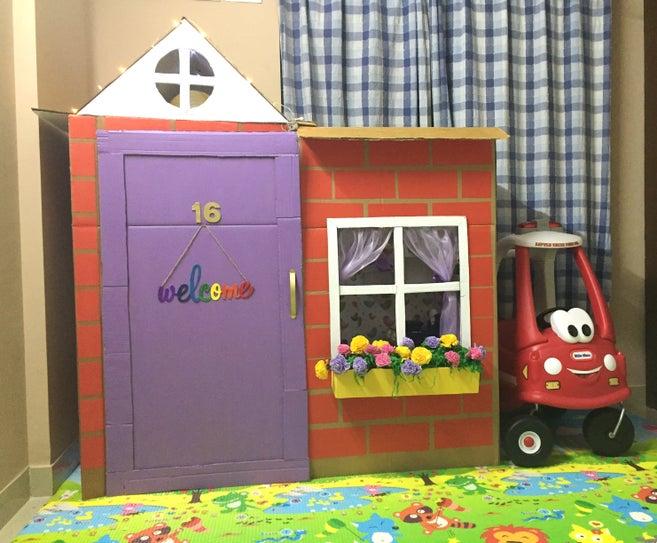 cardboard box house Secure Brick Cardboard Home