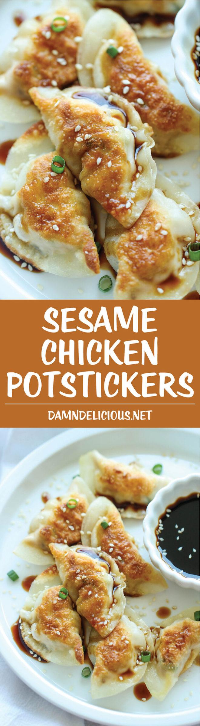 sesame chicken Sesame Chicken Potstickers