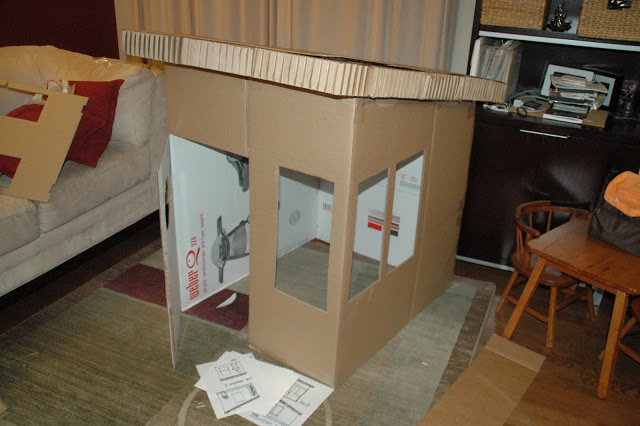 cardboard box house Simple Cardboard House
