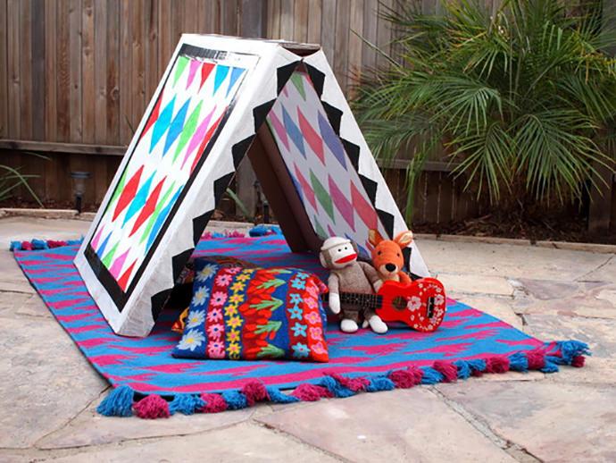 cardboard box house Simple Cardboard Tent