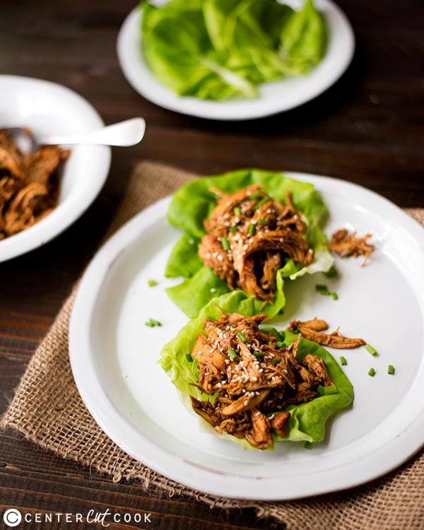 sesame chicken Slow Cooker Sesame Chicken Wraps