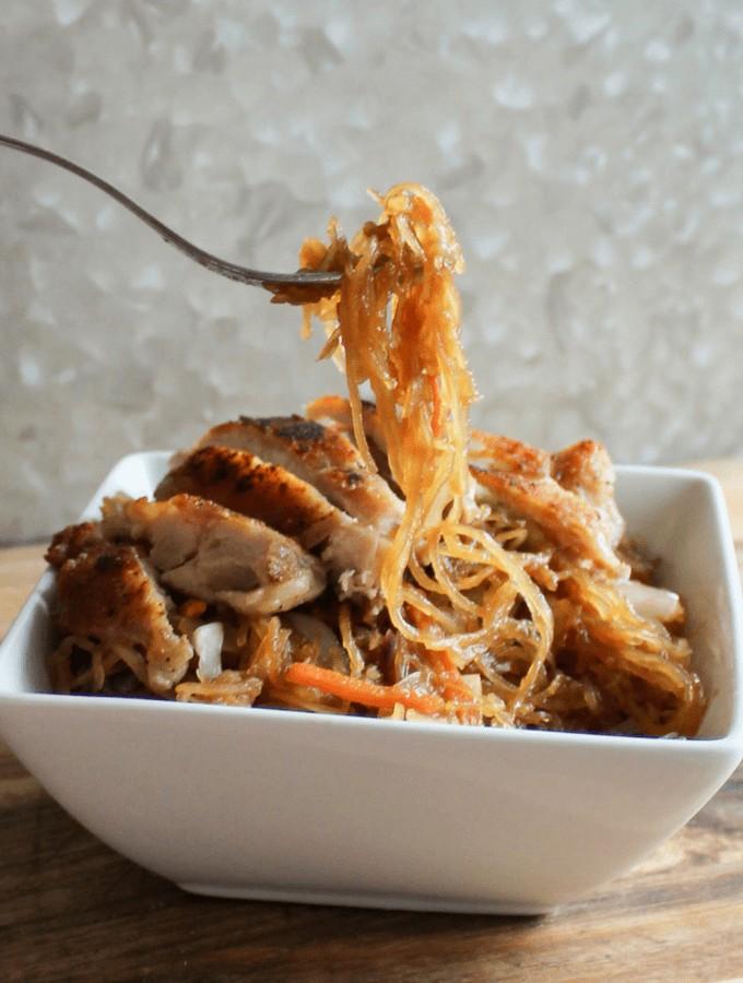 keto pasta Spaghetti Squash Chow Mein