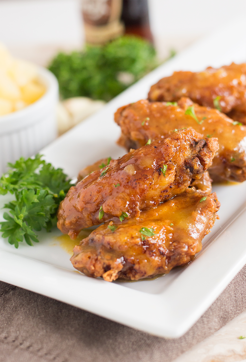 Spicy Pineapple and Mango Chicken Wings