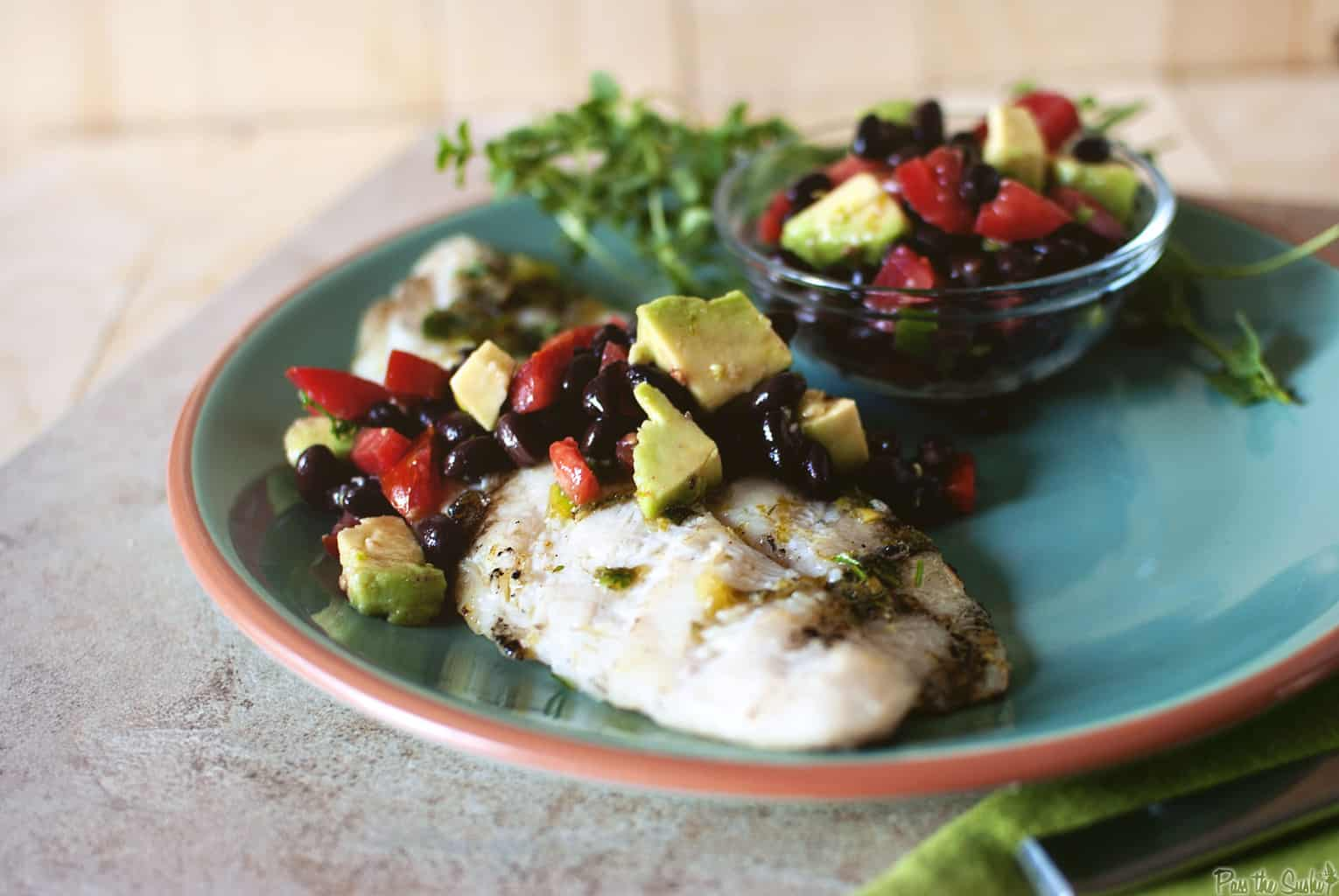 grilled tilapia Tilapia with Black Bean and Avocado Relish