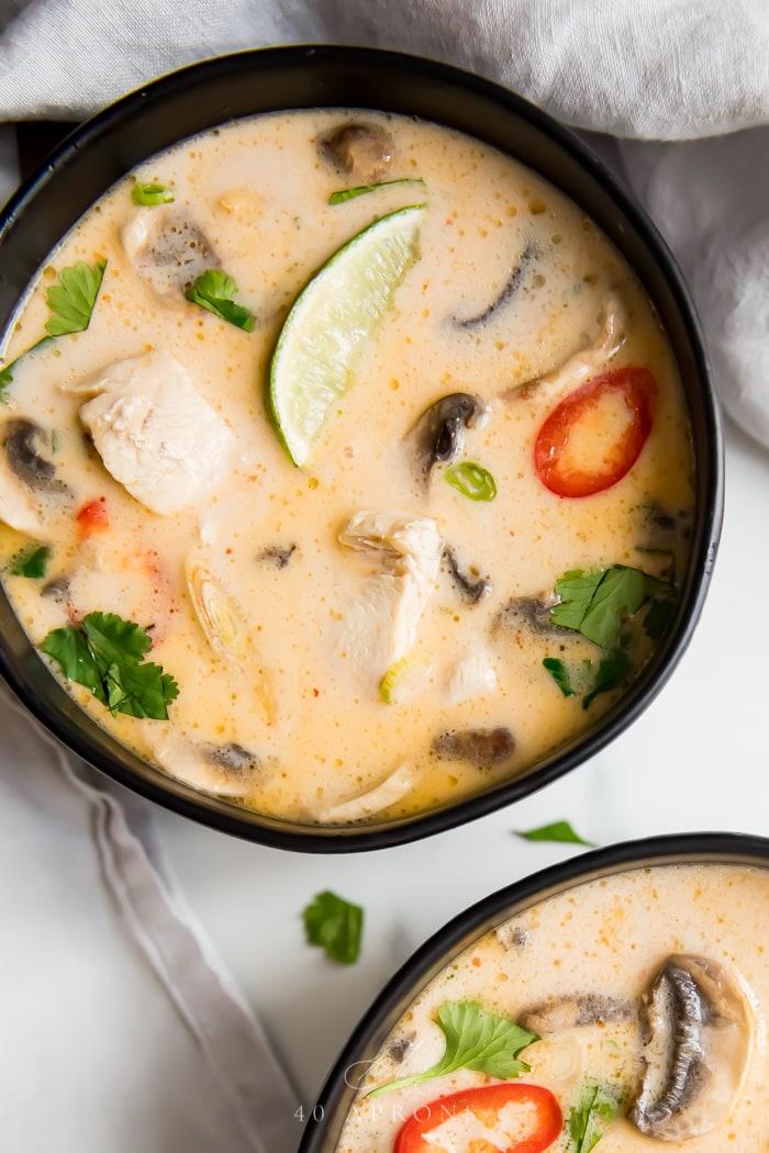 chicken soup Tom Kha Gai Soup