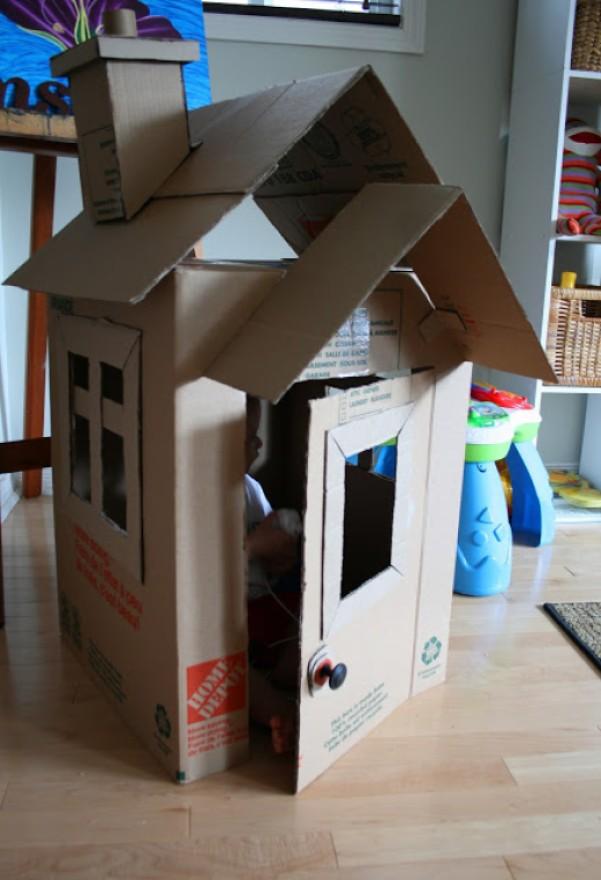 cardboard box house Two Box Home
