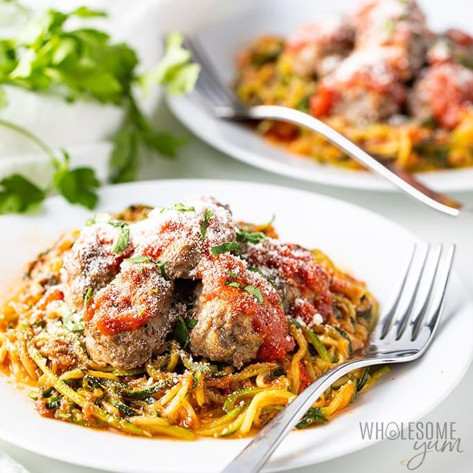 keto pasta Zucchini Spaghetti