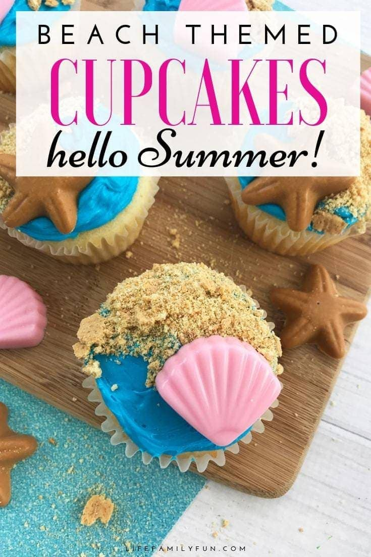 Beach Themed Cupcakes to Welcome Summer