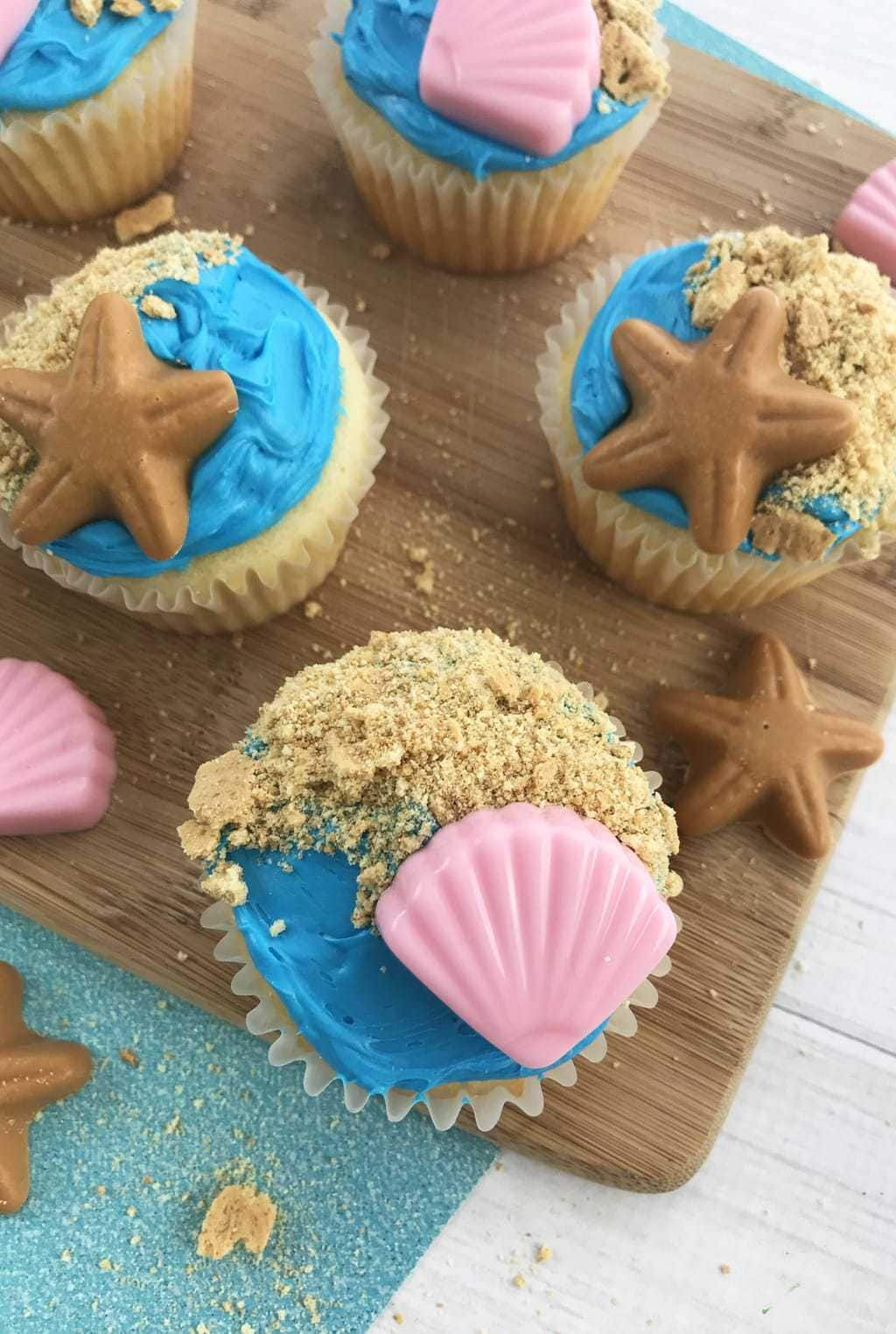 If you are looking for the perfect summer cupcake recipe and planning a beach-themed birthday party, these Summer Beach Themed Cupcakes are simply adorable.