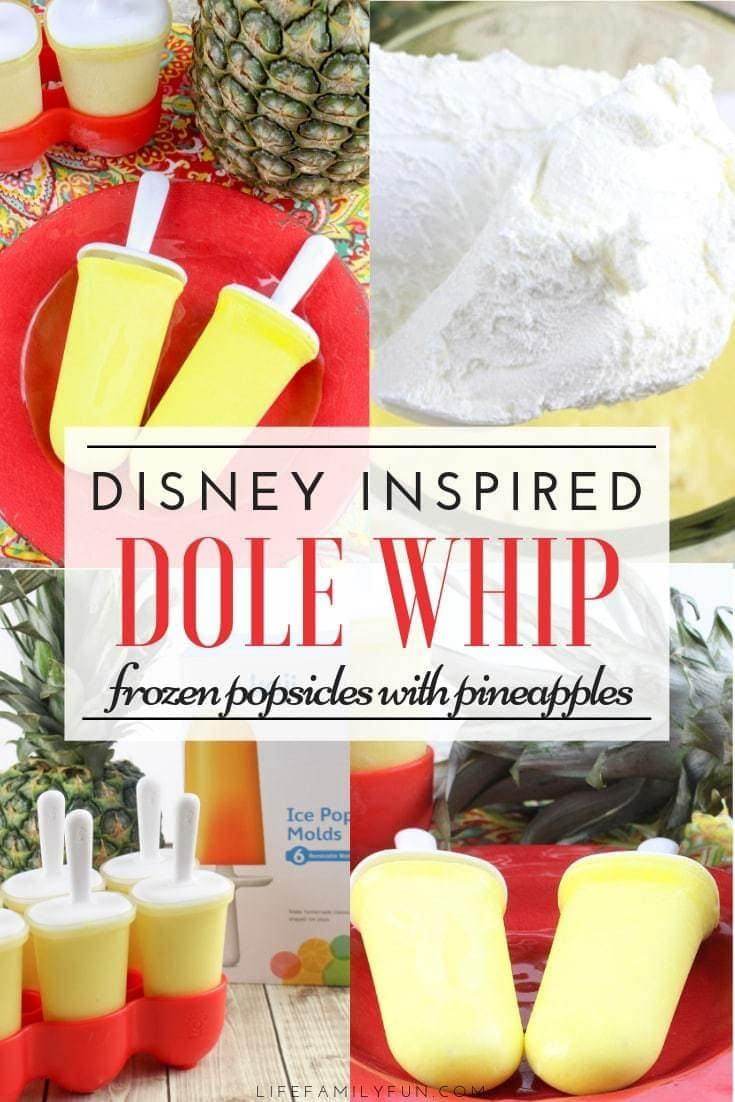 Summertime heat can be brutal and often leave us craving something cold and sweet to cool down our bodies and our taste buds! Instead of loading your kiddos up on a sugar rush, why not create your own Dole Whip Popsicles with pineapple? Do you love Disney's Dole Whip? Being able to bring that same flavor into your home is awesome!