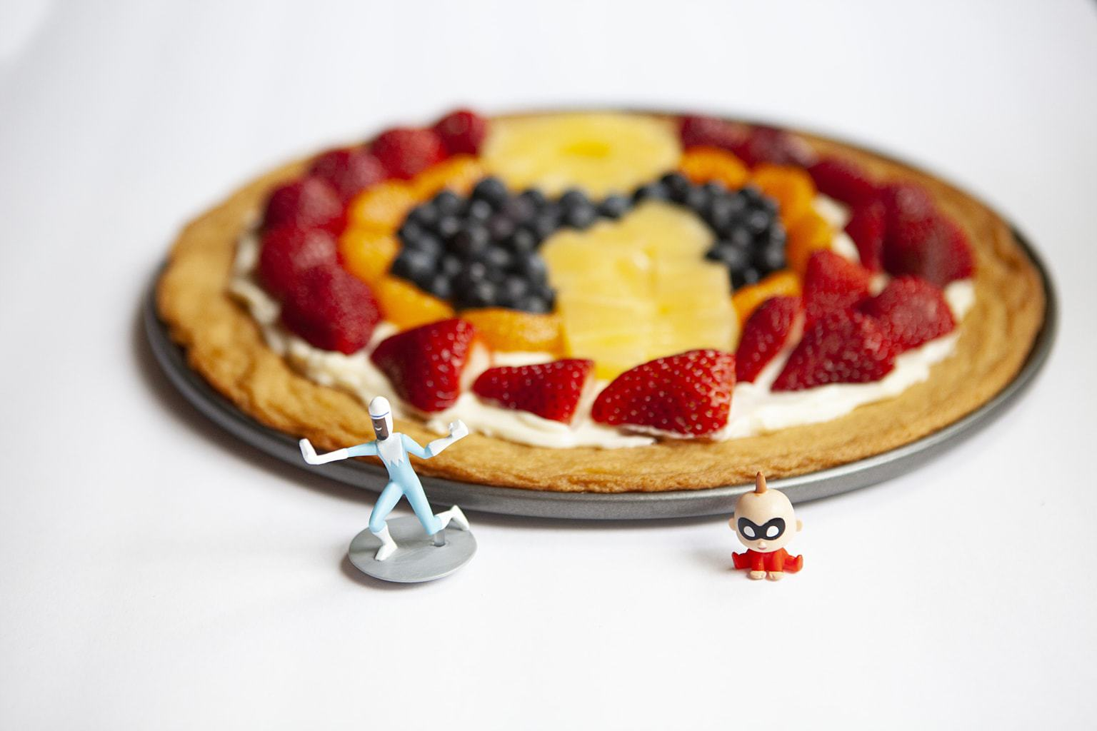 Sugar cookie Fruit Pizza Inspired by Incredibles Movie