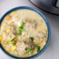 Instant Pot Meatballs Cheesy Soup, Sometimes in life, some things fit perfectly together.  This Instant Pot Meatballs Soup recipe is not only cheesy, but creamy and delicious!
