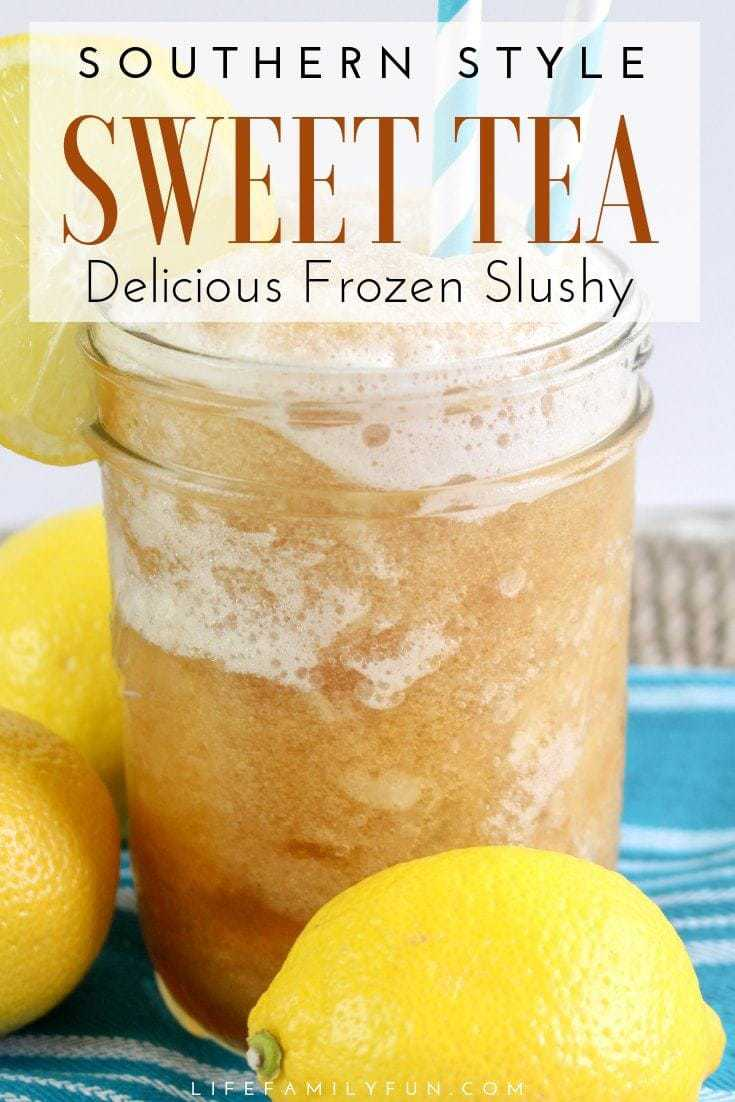 Enjoying a delicious Southern Sweet Tea Slushy is the perfect way to cool your taste buds, while still getting that southern flavor that you love. #SweetTeaSlushy